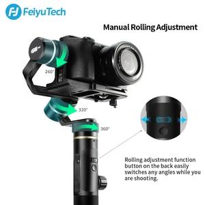 Image 2 - FeiyuTech G6 Plus 3 Axis G6P مثبت انحراف محمول باليد لكاميرا عديمة المرآة GoPro تحميل الهاتف الذكي 800g Feiyu G6P