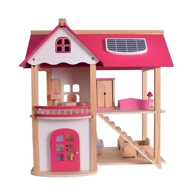 Large Doll House 3d Diy Wooden Dollhouse Handmade Doll Houses