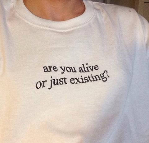 Summer Are You Alive Or Just Existing T Shirt Funny Cotton O Neck Tee Crewneck Style Outfits