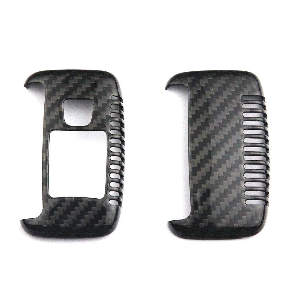 Genuine Carbon Fiber Car Auto Remote Key Shell Fob Holder Case Cover For Jaguar XF XJ Land Rover Evoque All Series Car Styling