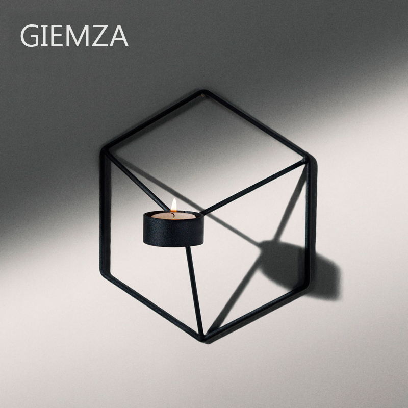 GIEMZA Black Candlestick Iron Candle Holders for Candles ...