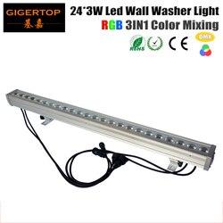 Fedex Freeshipping 24x3W RGB LED wodoodporna ściana podkładka oświetlenie wysokiej mocy Tricolor 3w1 powodzi krajobraz dół lampa oświetleniowa