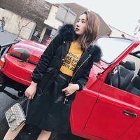 2018 Gold Velvet Down Jacket Women Short Korean Style Thick Warm Large Fur Collar Coat Hot Sale Best Quality Size S M L XL