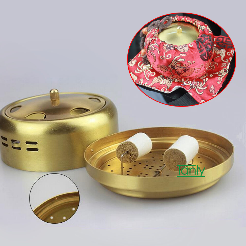 Wholesale and Retail big size high Quality pure copper health beauty Moxa Box wholesale and retail new type thicken pure copper health beauty moxa box moxibustion device