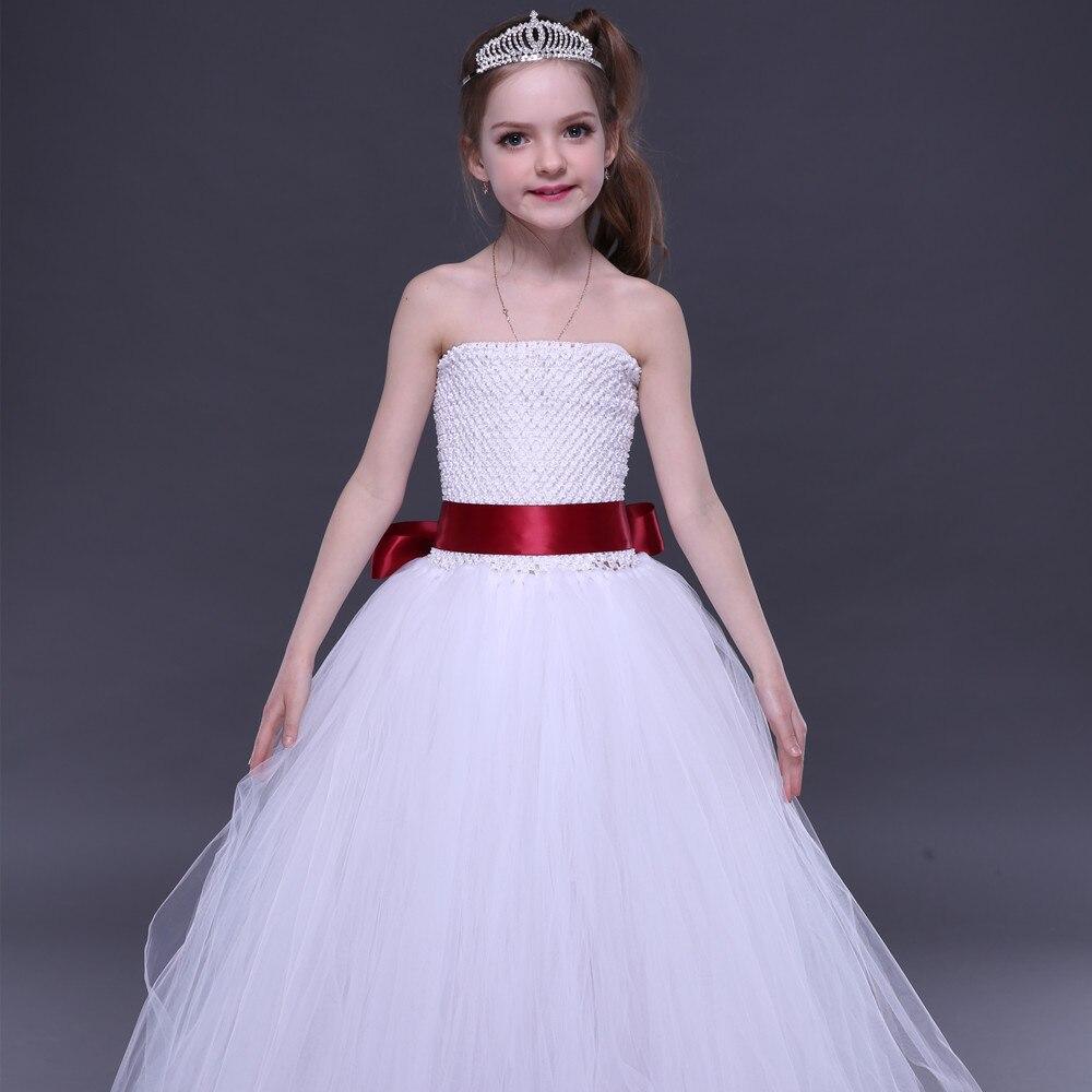 Weißes Erstkommunion-Mädchen-Ballettröckchen-Kleid mit - Kinderkleidung - Foto 5