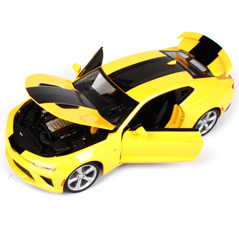 Maisto 1:18 2016 chevrolet camaro ss yellow car diecast 265*110*75 luxury car toy model collecting car model for kid gift 31689 yellow car model for 1 18 rover series i ltd 1948 minichamps classic collection diecast model car diy model customs made