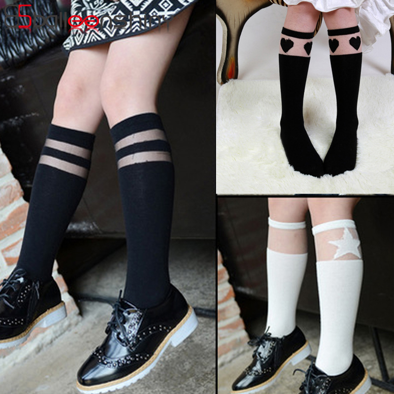 BalleenShiny Baby Girls Knee-high Socks New Style Fashion Children Cotton Lace Splice Breathable Kids Comfortable Middle Tube BalleenShiny Baby Girls Knee-high Socks New Style Fashion Children Cotton Lace Splice Breathable Kids Comfortable Middle Tube