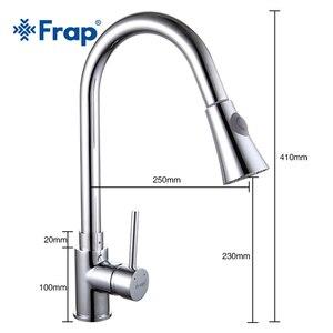 Image 4 - Frap new 1 set Pull Out chrome Kitchen Faucet Sink Mixer Tap Swivel Spout Sink Faucet Swivel Copper Kitchen Faucets tap F6052