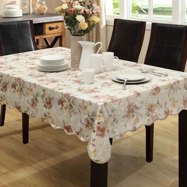 Pvc Nappe Table Cloth Plastic Waterproof Oilproof Dining Tablecloth
