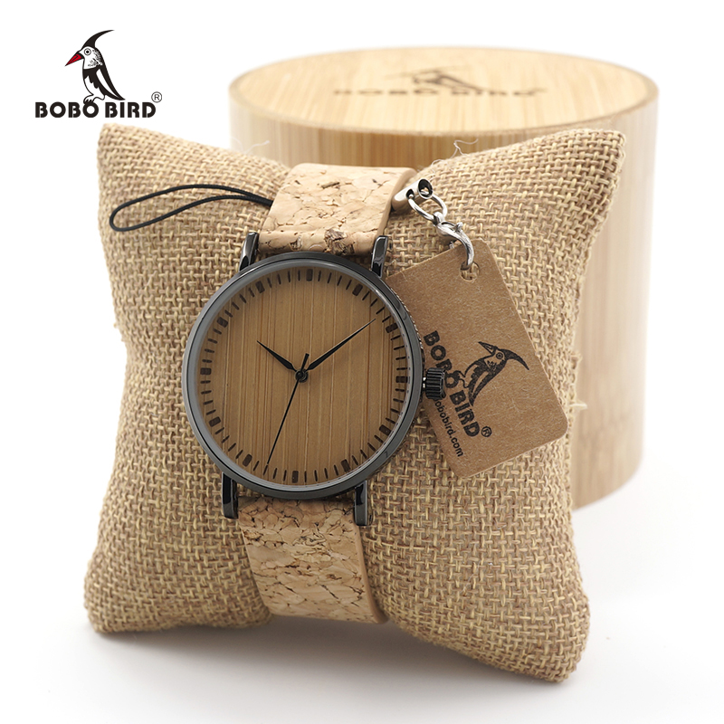 BOBO BIRD Mens Women Vintage Design Brand Luxury Wooden Bamboo Watches Ladies Watch With Real Leather Quartz Watch in Gift Box bobo bird wc12 12holes brand design wood watches mens watch top luxury for women real leather straps as best gifts