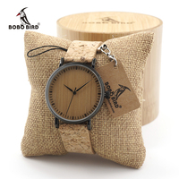 BOBO BIRD E19 Women S Vintage Design Brand Luxury Wooden Bamboo Watches Ladies Watch With Real