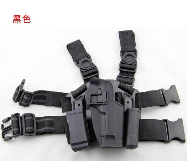 M92 시뮬레이션 권총 권총 집 CQC 다리 슈퍼 슈트 블랙 호크 데님 야외 CS 게임 세트
