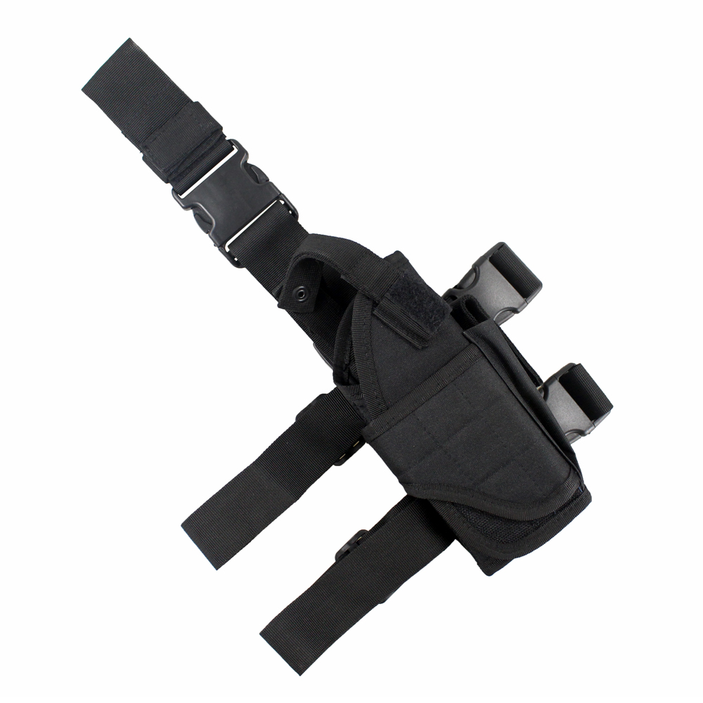 Tactical Universal Drop Leg Holster gun holster bag Adjustable Thigh Pistol Gun Holster for Right Handed-in Holsters from Sports & Entertainment