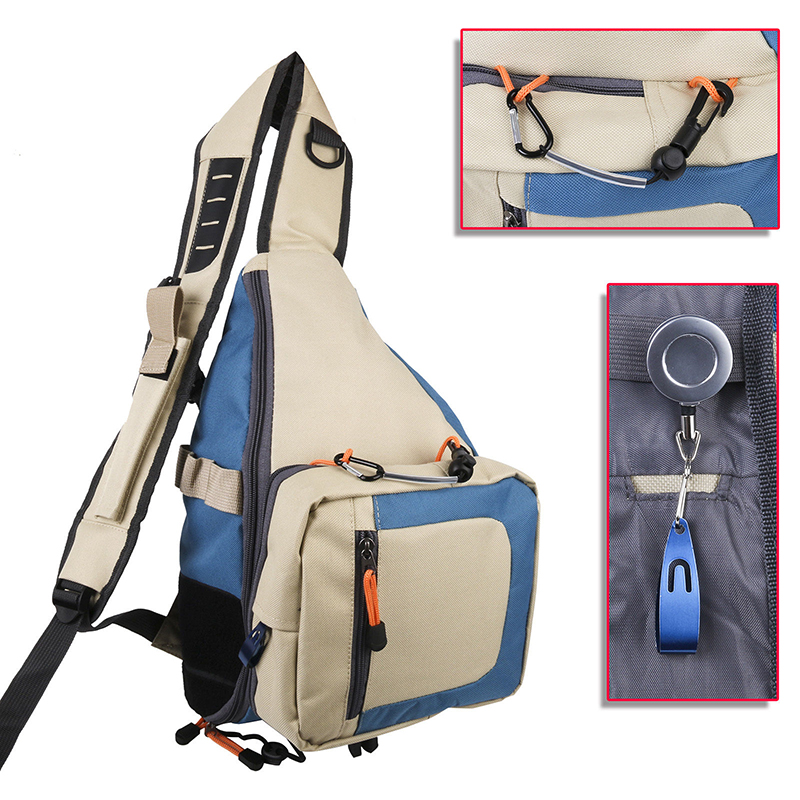 Fly Fishing Sling Pack Holder Single-shoulder Bag Backpack with Line Nipper maximumcatch fishing sling back pack outdoorsport fly fishing sling bag with fly patch