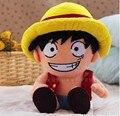 Аниме одна часть луффи плюшевые подлинной рис куклы 40cm. Мультфильм плюшевые игрушки вокруг бесплатная доставка