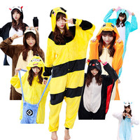 Adults Wholesale Styles All In One Flannel Anime Pijama Cartoon Cosplay Warm Sleepwear Hooded Homewear Women