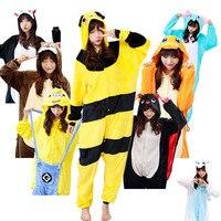 Adults Wholesale Styles All In One Flannel Anime Pijama Cartoon Cosplay Warm Sleepwear Hooded Homewear Women