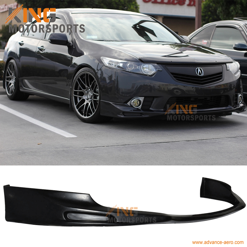 For 2009 2010 Acura TSX 4dr Sedan JDM Front Bumper Lip