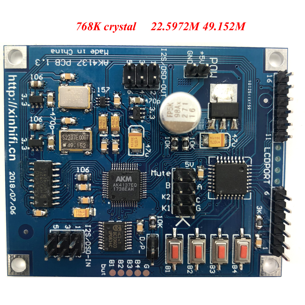 US $28 84 31% OFF|Lusya AK4137 I2S/DSD Sample Rate Conversion Board  Supports PCM/DSD Interchange Supports DOP Input -in Amplifier from Consumer