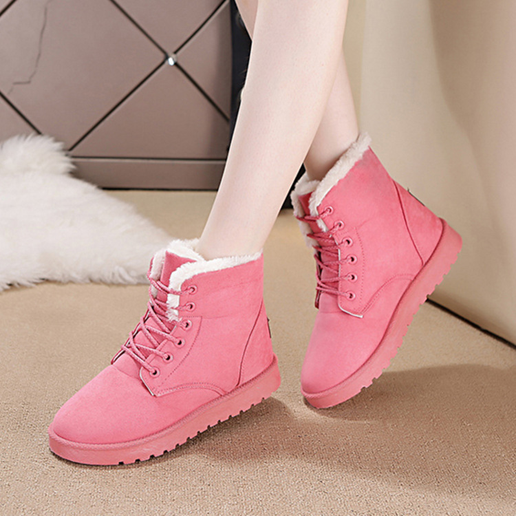 Women Winter Boots 2017 New Fashion Students Snow Boots Girls Short Boots Warm Ankle Shoes Martin Women's Shoes Warm Cotton 2016 new winter kids snow boots children warm thick waterproof martin boots girls boys fashion soft buckle shoes baby snow boots