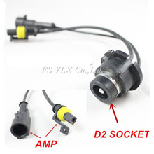 FSYLX 2X D2S D2R D2C D4S D4R D4S AMP drutu gniazdo adaptera dla D2 D4 żarówki ksenonowe statecznik HID reflektor przeciwmgielny lampa przewód do konwersji tanie tanio D2S D2R D2C D4S D4R D4S AMP Wire Adapter harness Drut Miedziany D2 HID ballast D2 Xenon socket for D2 D4 Xenon bulb ballast HID headlight fog light Conversion Cable