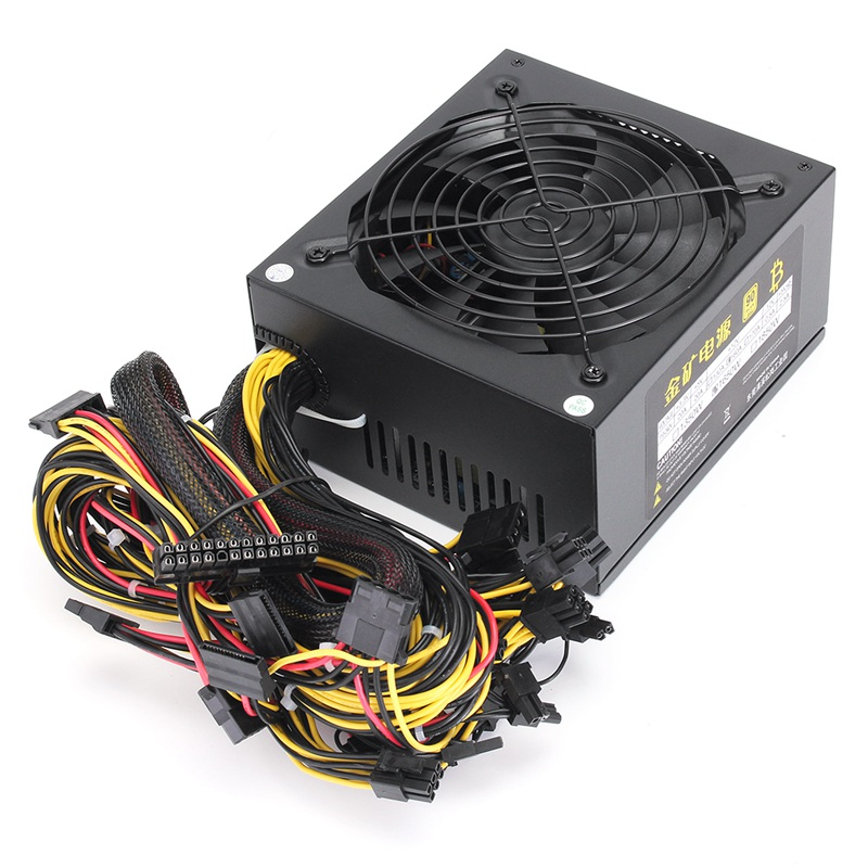 Miner Case 1600W Special Power Supply For ATX Mining Machine Support 6 Pieces Graphics Card New