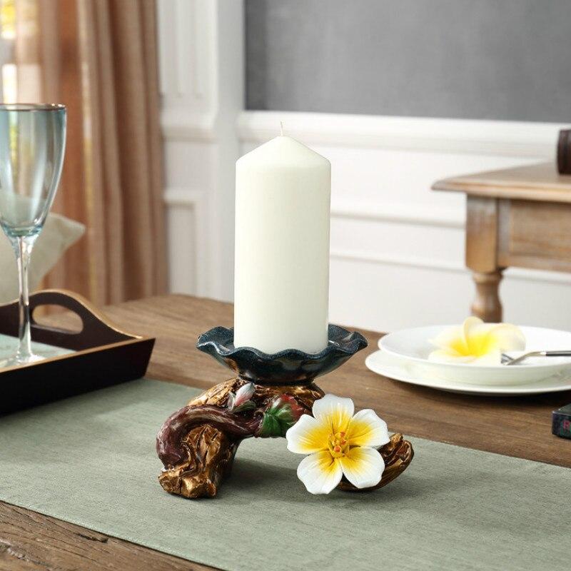 Bougie Chandelier ornements Européenne moderne minimaliste décor Ameublement Année décoration artisanat Bougie Titulaire 19*12*12 CM