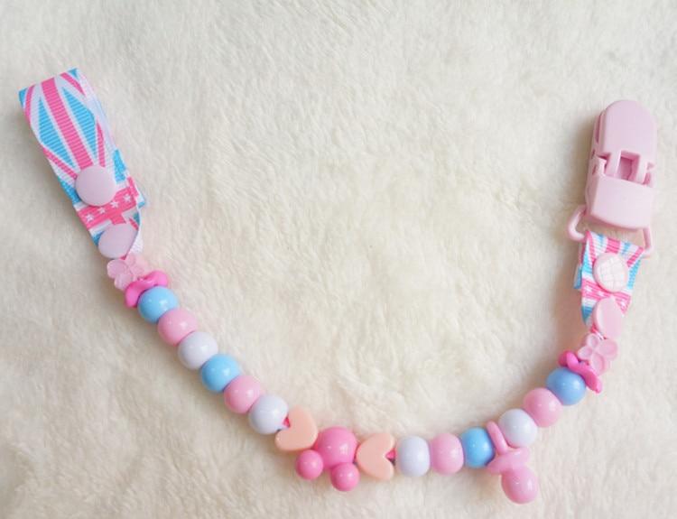 MIYOCAR Stunning Stripe färgglada roliga pärlor handgjorda pacifier - Äta och dricka - Foto 3