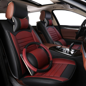 High quality PU Leather car seat cover for for ford c-max ecosport edge escort everest explorer 5 s-max of 2018 2017 2016 2015