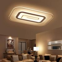 Modern brief square led ceiling light bedroom ceiling lamp rectangle living room ceiling lamp fixtures 40W 45W 65W