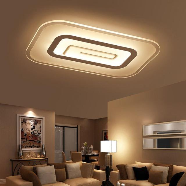 Moderne korte vierkante led plafondlamp slaapkamer plafondlamp ...