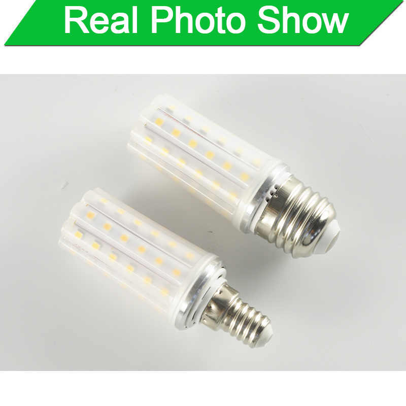 E27 Bóng Đèn LED E14 LED AC 220V 240V 12W 14W 16W SMD2835 Ngô LED bóng Đèn Đèn Chùm Nến Led Chiếu Sáng Trang Trí Nhà