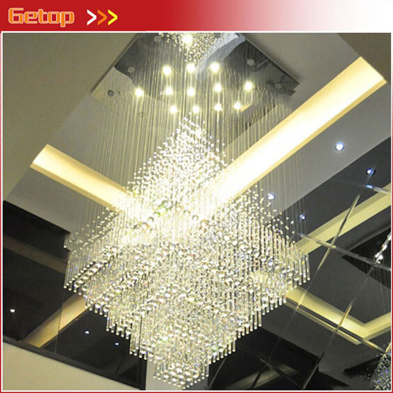 Z K9 Crystal LED Chandelier Modern Lighting Fixture Bedroom Hanging Lamp Foyer Stairs Lamps Home Hotel Hall Lights Bulb Included modern crystal chandelier rain drop rhombus design ceiling light fixture stairs chandelier duplex rotary lamp villa led lamps