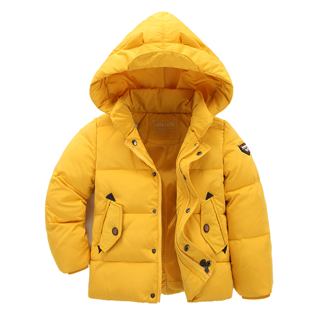 Kids Jackets For Boys Winter 2017 Kids Winter Parka Coat Thick Cotton Outwear Down Parka Coat Casual Children's Hooded Clothes