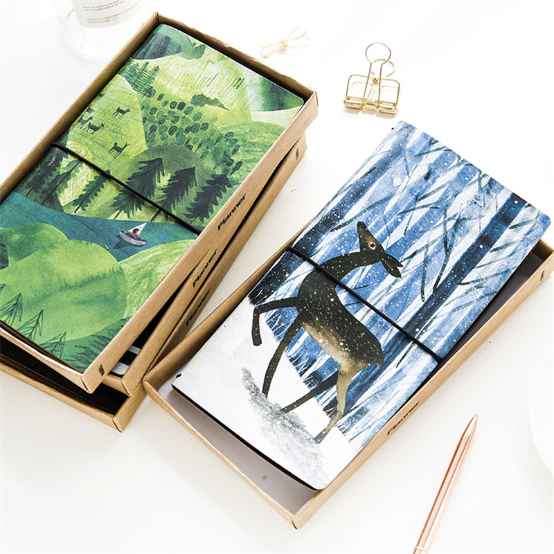 New Cute Planner notebook paper 60 sheets Creative Trends hand book PU leather Diary Journal office school supplies gift