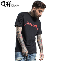 DHTEMA Rock Band Print T-shirt Men 2017 New Streetwear Casual O-Neck Hiphop T shirt Brand Clothing Hip Hop Tees