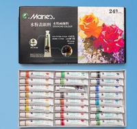 Гуашь краска DIY 24 цвета краска ing краска цвет прозрачный 12 мл/трубка гуашь Пигмент Цвет Набор