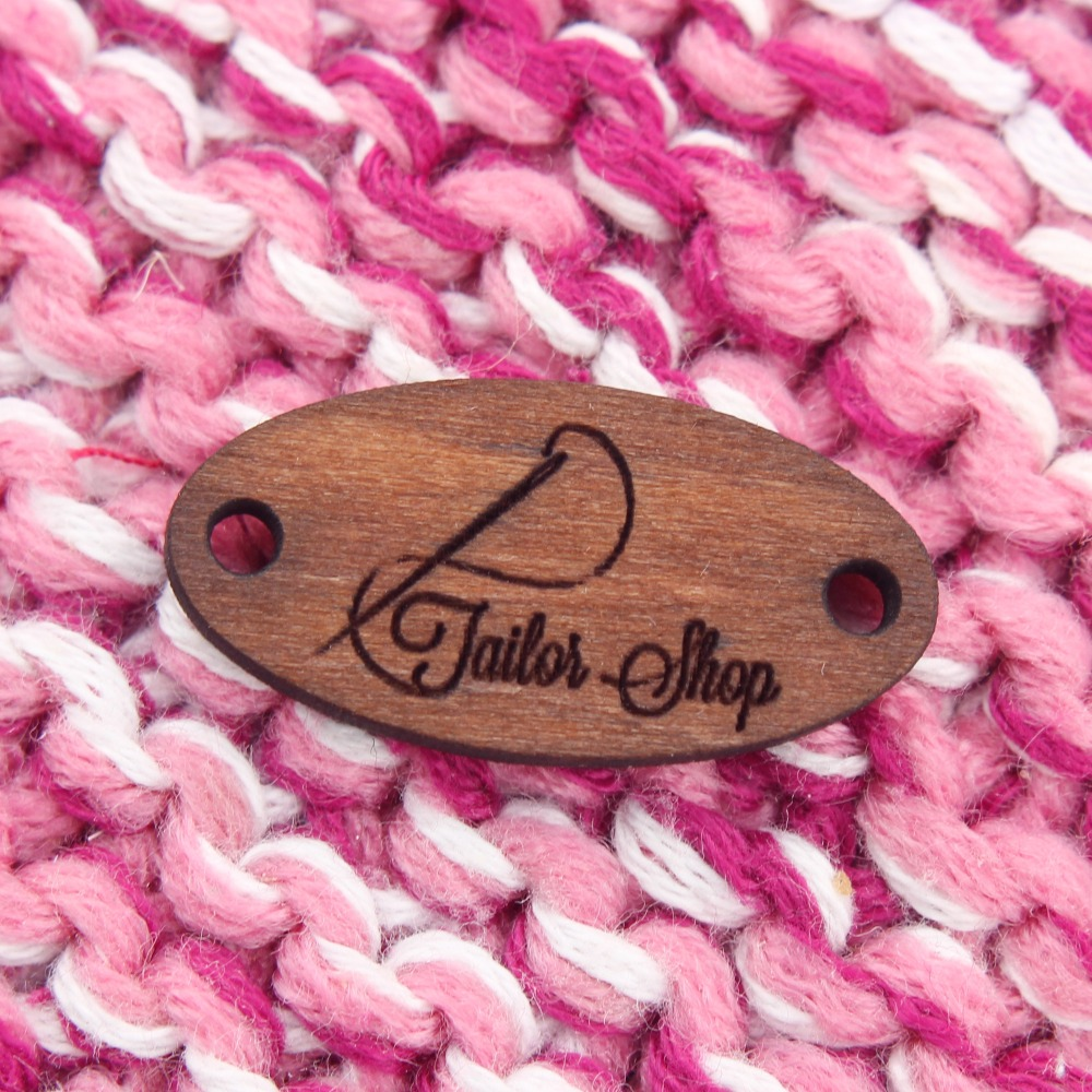Custom Wooden Tags, Custom Garment Labels, Wooden Clothing Tags, Knitting, Crochet, Personalized Labels (WDBQ92)