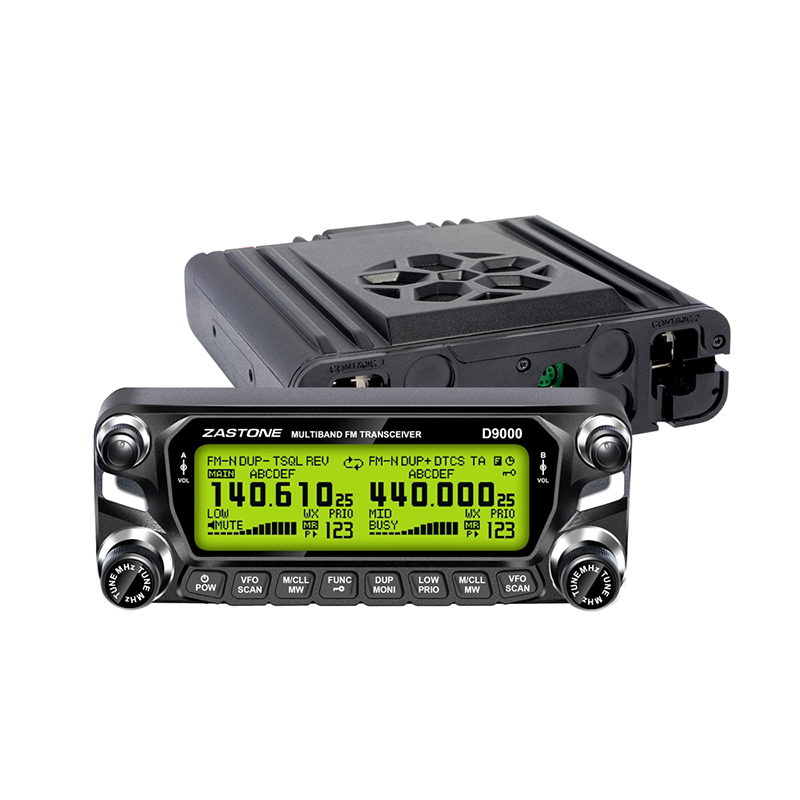 Image 2 - Zastone D9000 Car Walkie Talkie 50KM Car Radio Station 50W UHF/VHF 136 174/400 520MHz Two Way Ham Radio HF Transceiver-in Walkie Talkie from Cellphones & Telecommunications