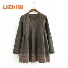 blusas mujer de moda 2017 pluse size women linen shirt  korean design tops embroidery good chemise long sleeve
