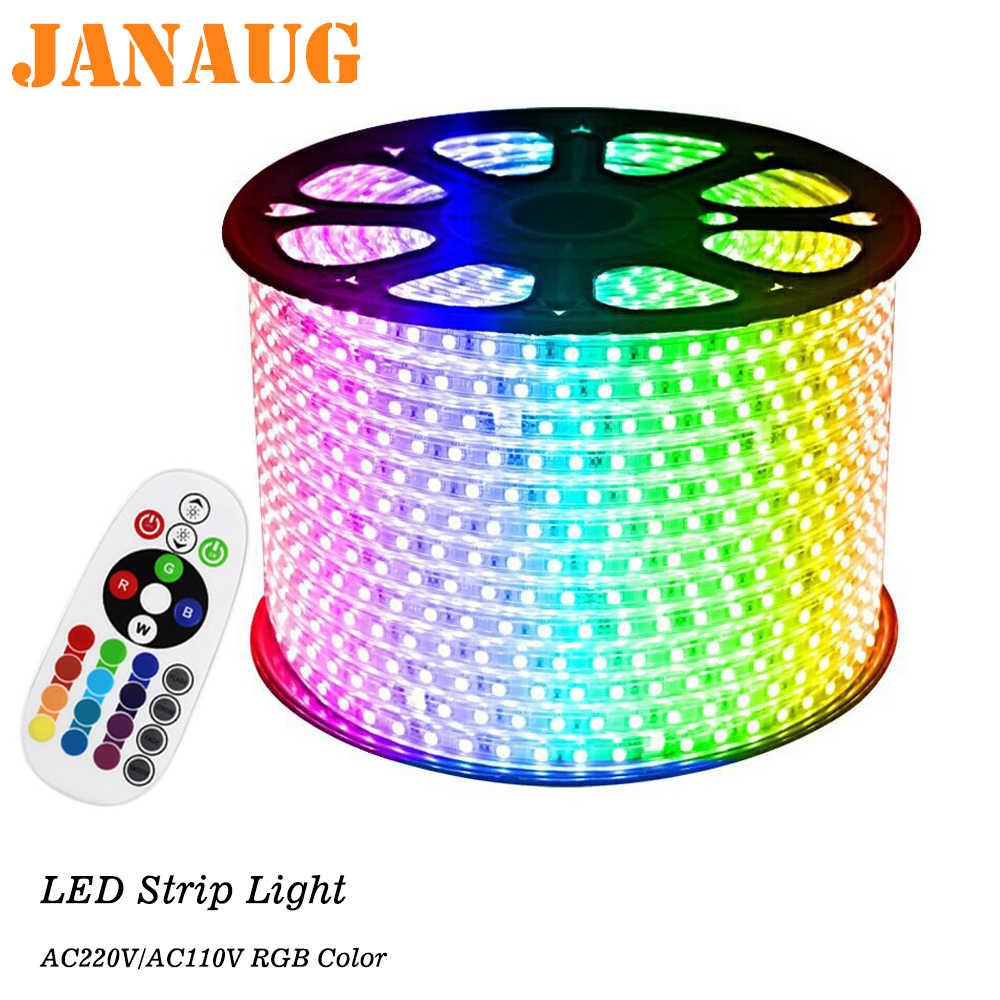 Rgb Led Strip Ac110v 230v Dimmable Under Cabinet Tape Lights 1m 5m 5050
