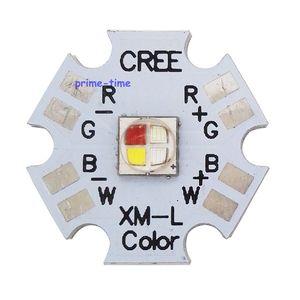 Image 2 - 5 stücke Cree XLamp XML XM L RGBW RGBWW RGB + Kühlen/Warm Weiß 12w 4 chip LED Emitter montiert auf 20mm Sterne PCB Für Bühne Licht