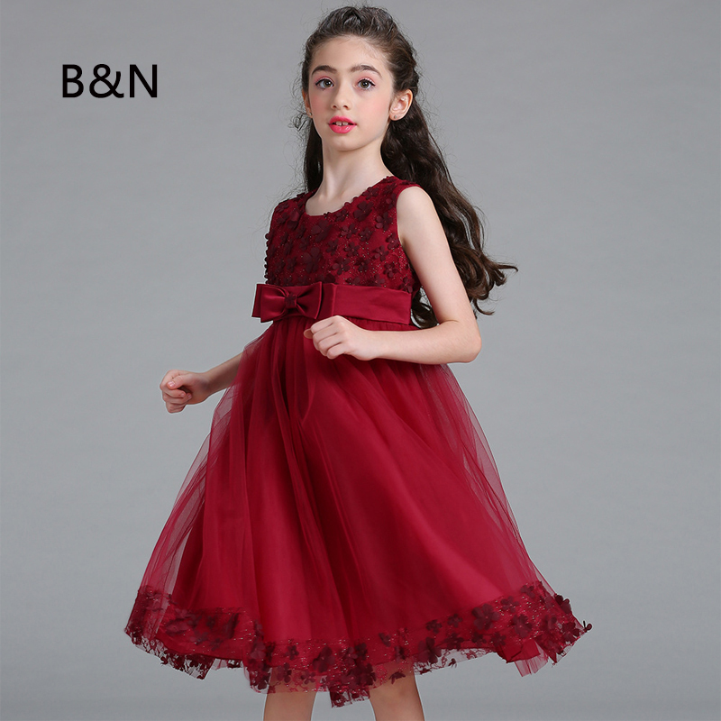 B&N Pageant Girl Dress For Party And Wedding lace mesh A-line girls clothing Princess Dress Summer Beautiful Infant Dress gf go7300 b n a3 gf go7400 b n a3