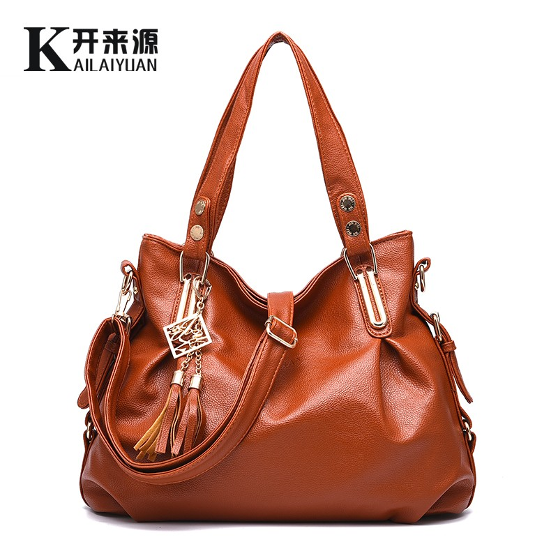 KLY 100% Genuine leather Women handbags 2018 New Ladies classic casual  fashion bag Crossbody Bag female hand bill of lading-in Top-Handle Bags  from Luggage ... 36e7253651c3