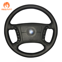 Black Artificial Leather Car Steering Wheel Cover For BMW E46 318i 325i E39