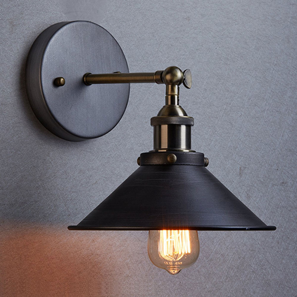 2017 New Sconce Wall Lights Vintage E27 Plated Loft Iron Wall Lamp Retro Industrial Bathroom Stair