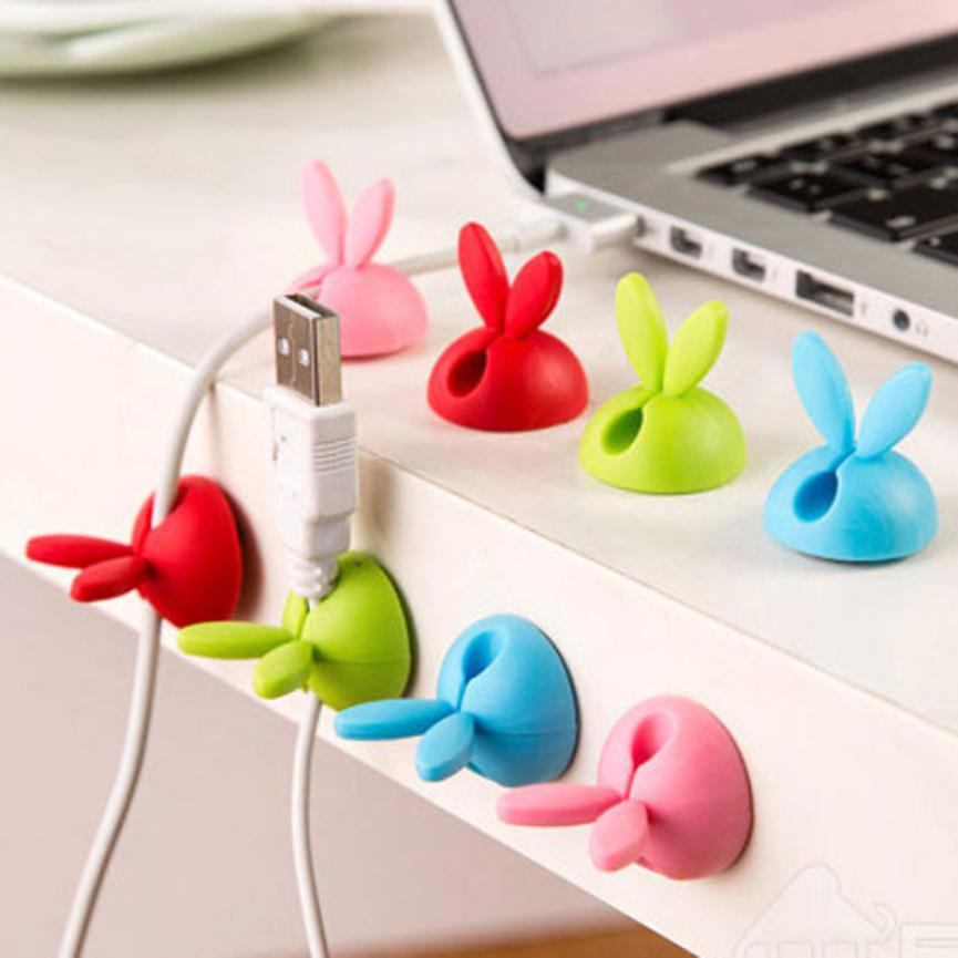 New Fashion Caldecott 4pcs Cable Clip Desk Tidy Wire Drop Lead Usb Charger Holder Mouse Cable Cord Organizer Holder Secure Tidy Wire Table Accessories & Parts Digital Cables