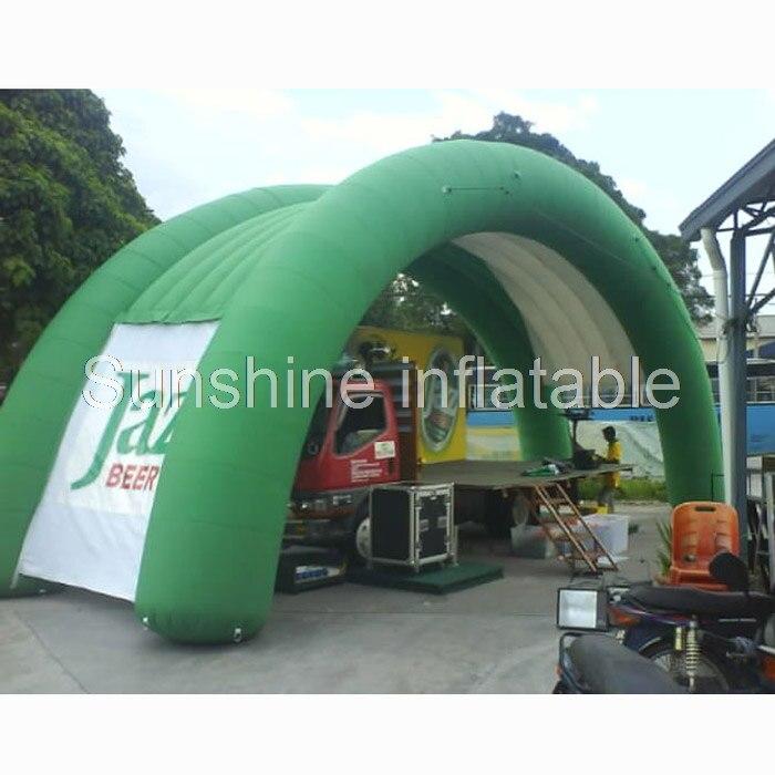 Привлекательный открытый гигантский купол в форме надувной арки события рекламная палатка