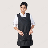 Salon Hollow Grid Cloth Design Hairdressing Pocket Apron Haircut Bib Barber Styling Hairdresser Cloth Cape for A Hairstyle UN810