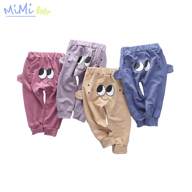 Calças das crianças Do Bebê Leggings Grandes Olhos Do Bebê Casuais Menino/menina Calças Calças de Algodão Calças Compridas Miúdos Dos Desenhos Animados 3D Roupa da criança